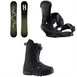 Burton Descendant Snowboard + Burton Custom EST Snowboard Bindings + Burton Moto Boa Snowboard Boots 2019