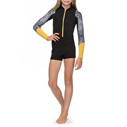 Roxy 2mm Pop Surf Long-Sleeve Front Zip Springsuit - Girls'