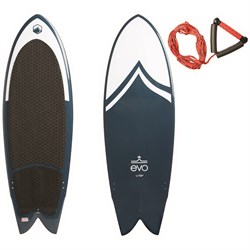 Liquid Force x evo Fish Wakesurf Board + Surf Rope