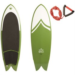 Liquid Force x evo Fish Wakesurf Board ​+ Handle