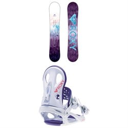 Roxy Sugar Banana Snowboard - Women's ​+ Roxy Wahine Snowboard Bindings - Women's 2019