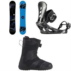 K2 Standard Snowboard + K2 Sonic Snowboard Bindings + K2 Raider Snowboard Boots 2019