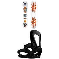 Lobster The Stomper Snowboard ​+ Switchback Twin Snowboard Bindings