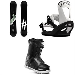 Lobster Park Snowboard  ​+ Switchback Destroyer Snowboard Bindings  ​+ thirtytwo STW Boa Snowboard Boots 2019