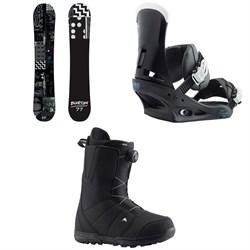 Burton Amplifier Snowboard + Burton Custom Snowboard Bindings + Burton Moto Boa Snowboard Boots 2019