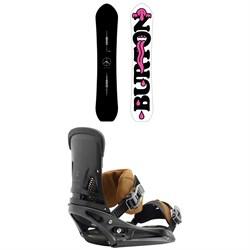 Burton Kilroy Custom Snowboard + Burton Malavita EST Leather Snowboard Bindings 2019