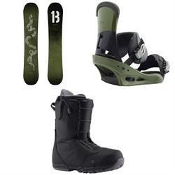 Burton Descendant Snowboard + Burton Custom Snowboard Bindings + Burton Ruler Snowboard Boots 2019