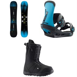 Burton Instigator Snowboard + Burton Freestyle Snowboard Bindings + Burton Moto Snowboard Boots 2019