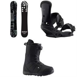 Burton Amplifier Snowboard + Burton Custom EST Snowboard Bindings + Burton Moto Boa Snowboard Boots 2019