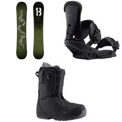 Burton Descendant Snowboard + Burton Custom EST Snowboard Bindings + Burton Ruler Snowboard Boots 2019