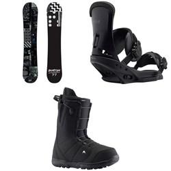 Burton Amplifier Snowboard + Burton Custom EST Snowboard Bindings + Burton Moto Snowboard Boots 2019