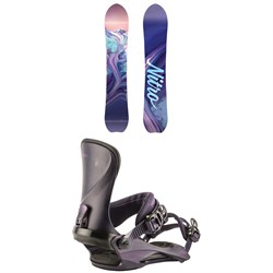 Nitro Drop Snowboard - Women's ​+ Nitro Cosmic Snowboard Bindings - Women's 2019
