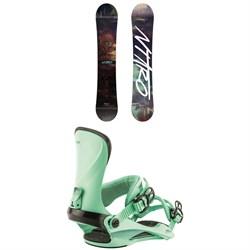 Nitro Mystique Snowboard - Women's + Nitro Cosmic Snowboard Bindings - Women's 2019