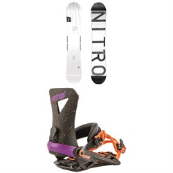 Nitro T1 Snowboard + Nitro Zero Snowboard Bindings 2019