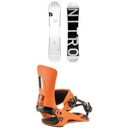 Nitro T1 Snowboard + Nitro Rambler Snowboard Bindings 2019
