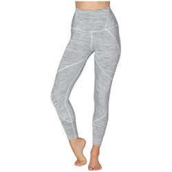 Beyond Yoga True To Stripe High Waisted Midi Leggings - Women's