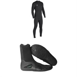 Vissla 7 Seas 4​/3 Chest Zip Wetsuit ​+ Vissla 7 Seas 3mm Split Toe Booties