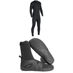 Vissla 7 Seas 4​/3 Chest Zip Wetsuit ​+ Vissla 7 Seas 5mm Round Toe Booties
