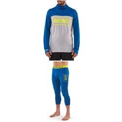 MONS ROYALE Yotei Powder Hood Long-Sleeve Top + Shaun-Off 3/4 Leggings