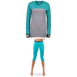 MONS ROYALE Yotei BF Tech Long-Sleeve Shirt ​+ Alagna 3​/4 Leggings - Women's