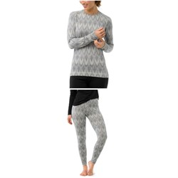 Smartwool Merino 250 Baselayer Pattern Crew Top - Women's ​+ Smartwool Merino 250 Baselayer Pattern Pants - Women's