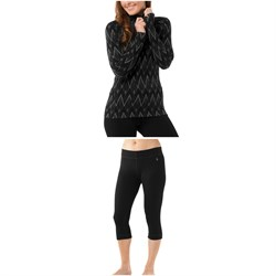 Smartwool Merino 250 Baselayer Pattern 1​/4 Zip Top ​+ Merino 250 Baselayer 34 Bottoms - Women's