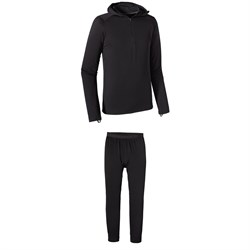 Patagonia Capilene® Thermal Weight Zip-Neck Hoodie ​+ Patagonia Capilene® Thermal Weight Bottoms