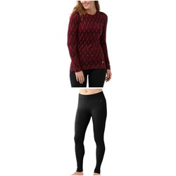 Smartwool Merino 250 Baselayer Pattern Crew Top - Women's ​+ Smartwool Merino 250 Baselayer Bottoms - Women's