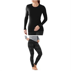 Smartwool Merino 250 Baselayer Crew Top ​+ Merino 250 Baselayer Pattern Pants - Women's