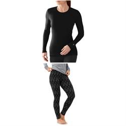 Smartwool Merino 250 Baselayer Crew Top + Merino 250 Baselayer Pattern Pants - Women's