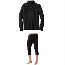 Smartwool Merino 250 Baselayer 1​/4 Zip Top ​+ Smartwool Merino 250 Baselayer 3​/4 Bottoms