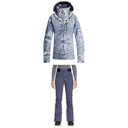 Roxy Jet Ski Premium Jacket + Rising High Pants - Women's