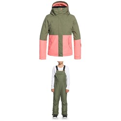 Roxy Jetty Block Jacket ​+ Non Stop Bibs - Girls'