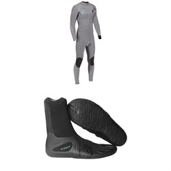 Vissla High Seas Drainer 4/3 Chest Zip Wetsuit + Vissla 7 Seas 3mm Split Toe Booties