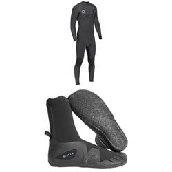 Vissla High Seas Drainer 4​/3 Chest Zip Wetsuit ​+ Vissla 7 Seas 5mm Round Toe Booties 2019