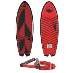 Liquid Force Rocket Wakesurf Board with Surf Rope 2019