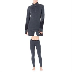 Icebreaker Zone 260 Midweight 1​/2 Baselayer Top ​+ Zone 260 Midweight Baselayer Bottoms - Women's