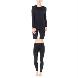 Icebreaker Oasis 200 Baselayer Crew Top ​+ Oasis 200 Baselayer Bottoms - Women's