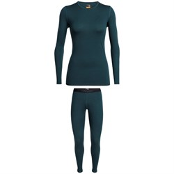Icebreaker Oasis 200 Baselayer Crew Top ​+ Bottoms - Women's