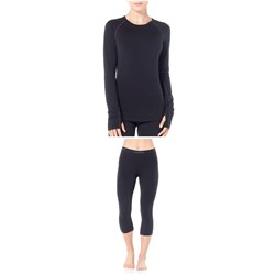 Icebreaker Zone 200 Midweight Baselayer Crew Top ​+ Zone 200 Midweight Legless Baselayer Bottoms - Women's
