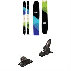 RMU North Shore 108 Wood Skis + Marker Jester 16 ID Ski Bindings 2019