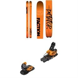 Faction Dictator 3.0 Skis + Salomon Warden MNC 13 Ski Bindings 2019