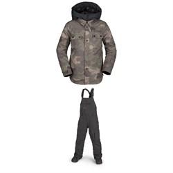 Volcom Neolithic Jacket + Volcom Barkley Bibs - Boys'