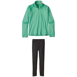 Patagonia Capilene Heavyweight Zip-Neck Top - Big Girls' ​+ Patagonia Capilene Pants - Big Girls'