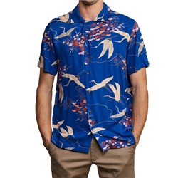RVCA Blue Crane Short-Sleeve Shirt