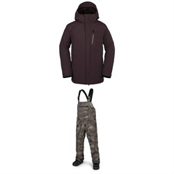 Volcom x evo L GORE-TEX Jacket + Volcom x evo Rain GORE-TEX Bib Overalls