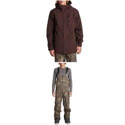 Volcom x evo L GORE-TEX Jacket + Rain GORE-TEX Bib Overalls