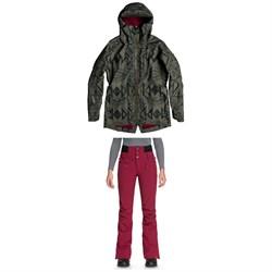 Roxy Glade Printed GORE-TEX 2L Jacket + Roxy Rising High Pants - Women's