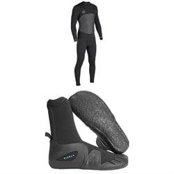 Vissla Seven Seas 4/3 50/50 Wetsuit + Vissla 7 Seas 5mm Round Toe Booties