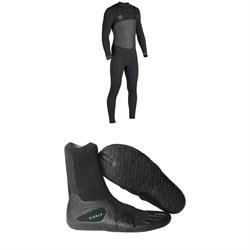 Vissla Seven Seas 4/3 50/50 Wetsuit + Vissla 7 Seas Split Toe Booties